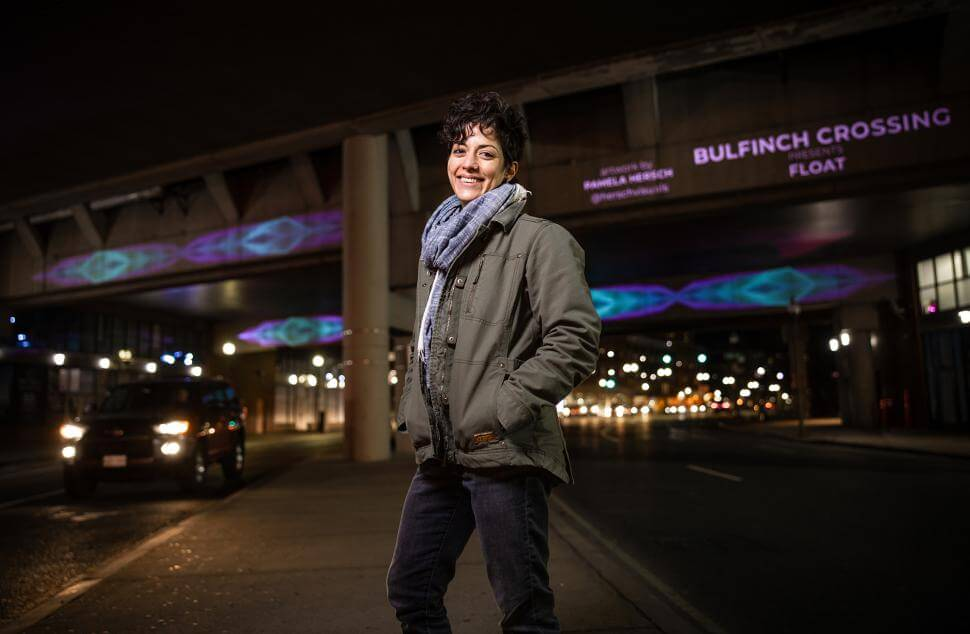 Alumnae Bring Sound and Light to Boston Underpass