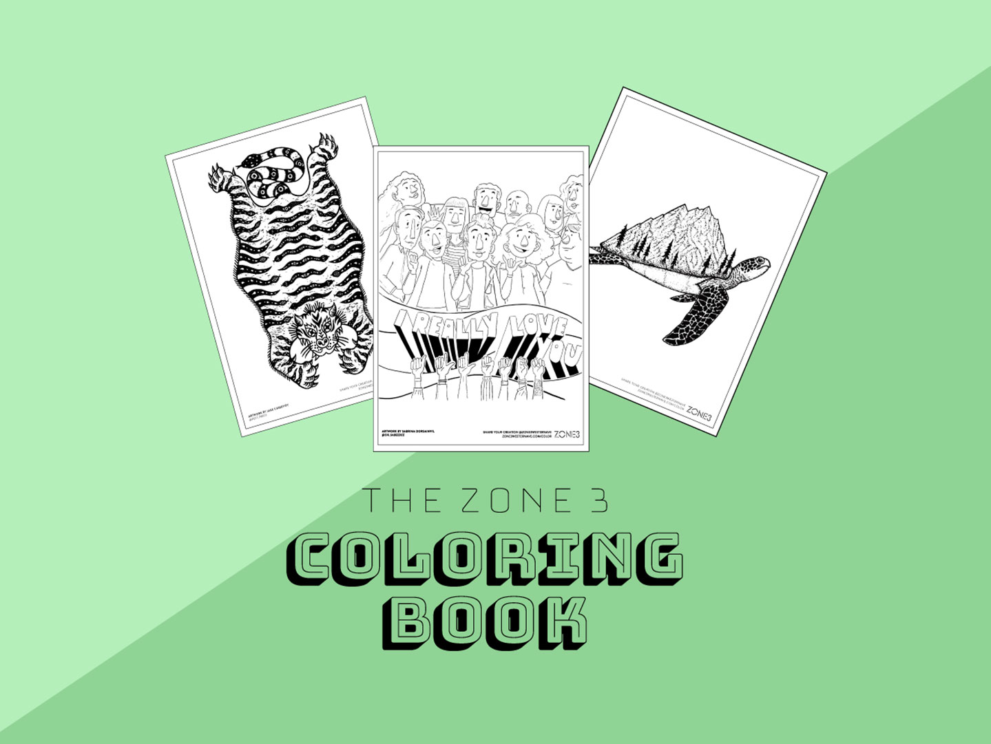 Zone 3 Coloring Book