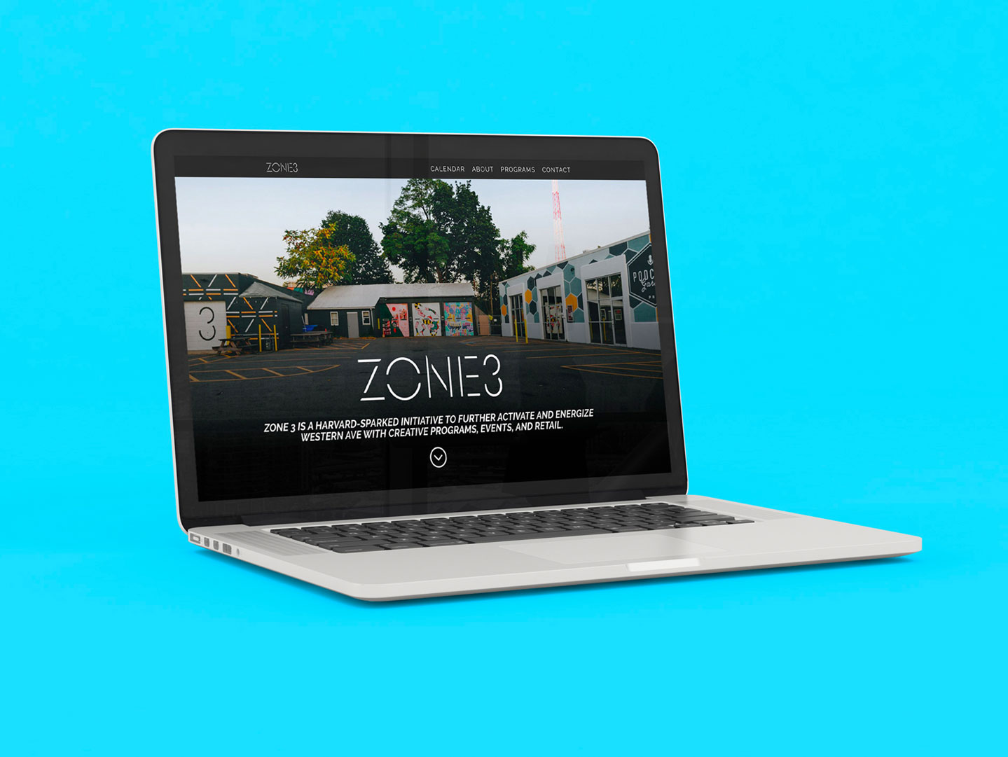 Zone 3 Website Mockup